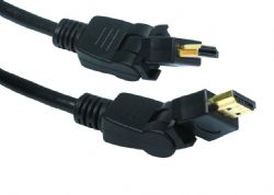 HDMI Cable with Swivel and Rotating Plugs | 0.5m 1m 2m 3m 5m | cables4all